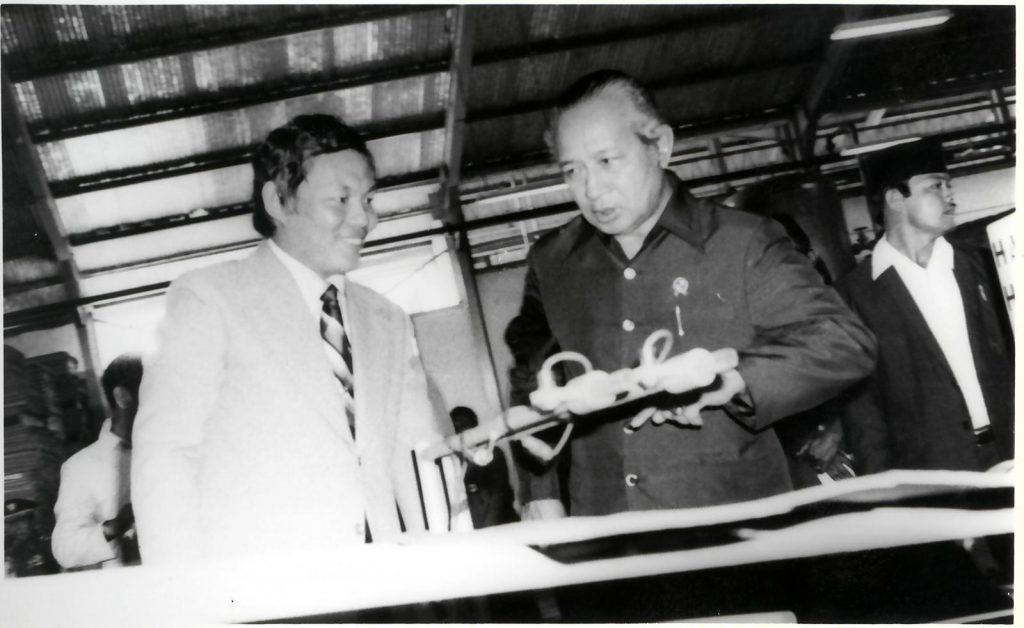 President Suharto visits Sukanti Tanoto